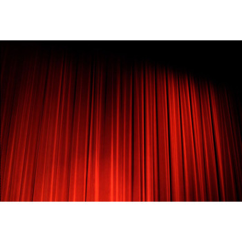 Elegant Auto Theatre Red Stage Curtain Velvet Curtain Fabric For