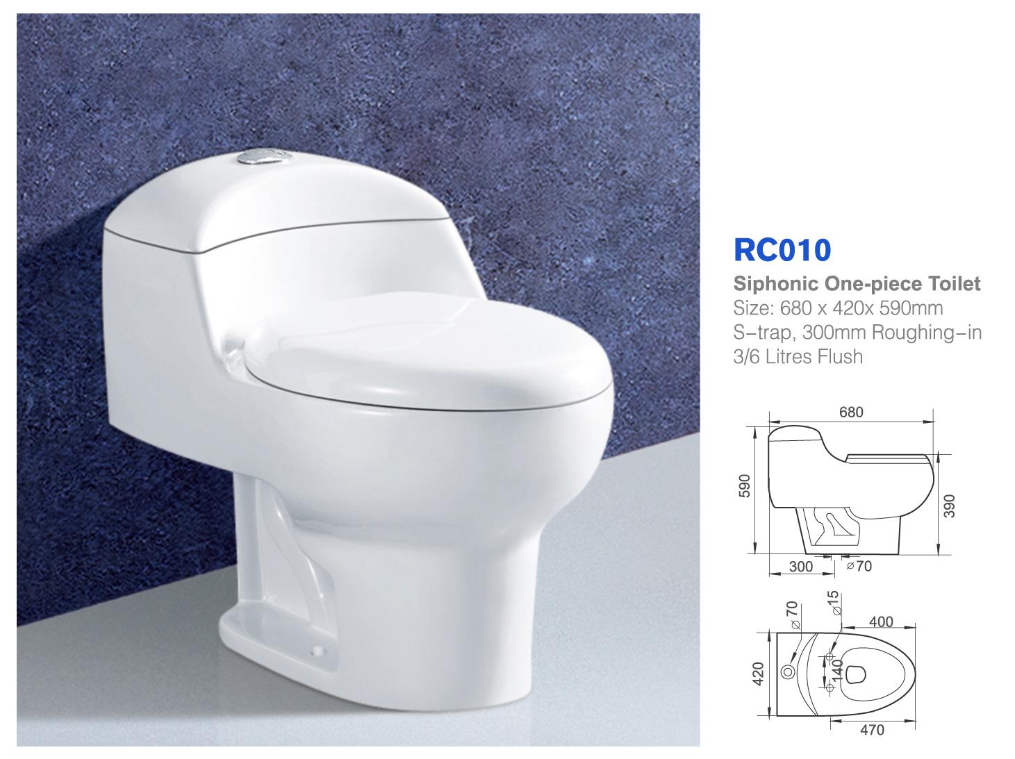 Wholesale China Cheap Double Flush One-piece Ceramic Siphon Ceramic ...
