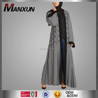 Latest Fashion Style Muslim Kimono Abaya With Belt Hot Sell Modern Front Open Abaya Islamic Names Of Ladies Dresses