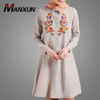 Pakistani Tunic Style Muslim Women Clothing Hotsale Embroidery Formal Abaya Beautiful Blouse Online