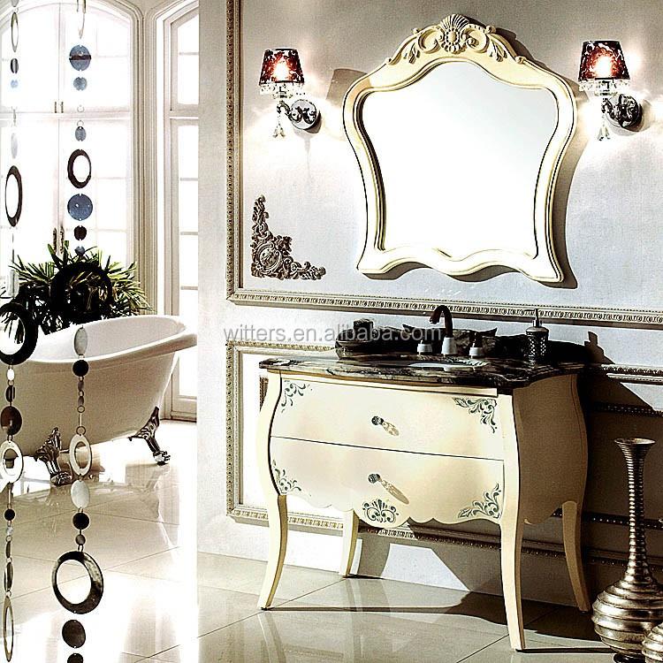 Antique White Single Sink Narrow Cheap Bathroom Vanity ...