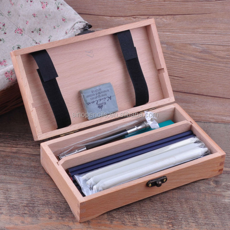 18pcs Artist Sketching Drawing Set Into Wooden Box Buy