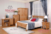 Contemporary Solid Oak Wood Lamp Table bedroom furniture set CO2115