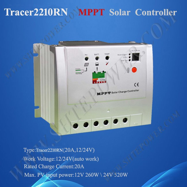 Tracer 2210rn MPPT Solar Charge Controller 20A 12V 24V Auto <strong>Max</strong> 100V Input