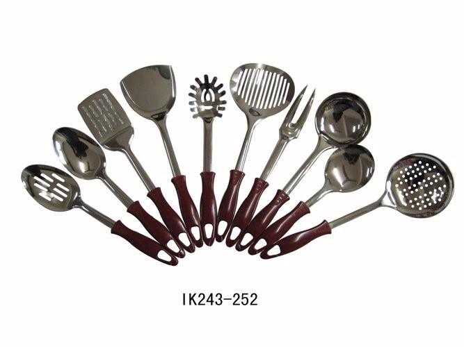 10 Unids Cocina Plástico Acero Inoxidable Utensilios De Cocina Set ...