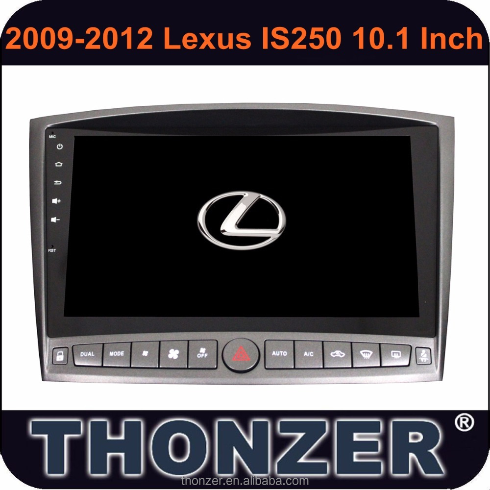 THONZER Android 6.0 CARRO DVD player 10.2 polegada LEXUS IS250 IS300 IS350 Lexus (2005-2011)