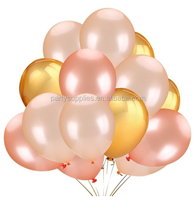Gold Rose 12inch Party City Latex Free Balloons For Wedding Graduation Birthday Decoration Supplies