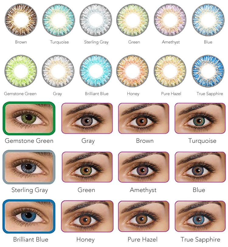 Most Natural Looking Non Prescription Colored Contacts