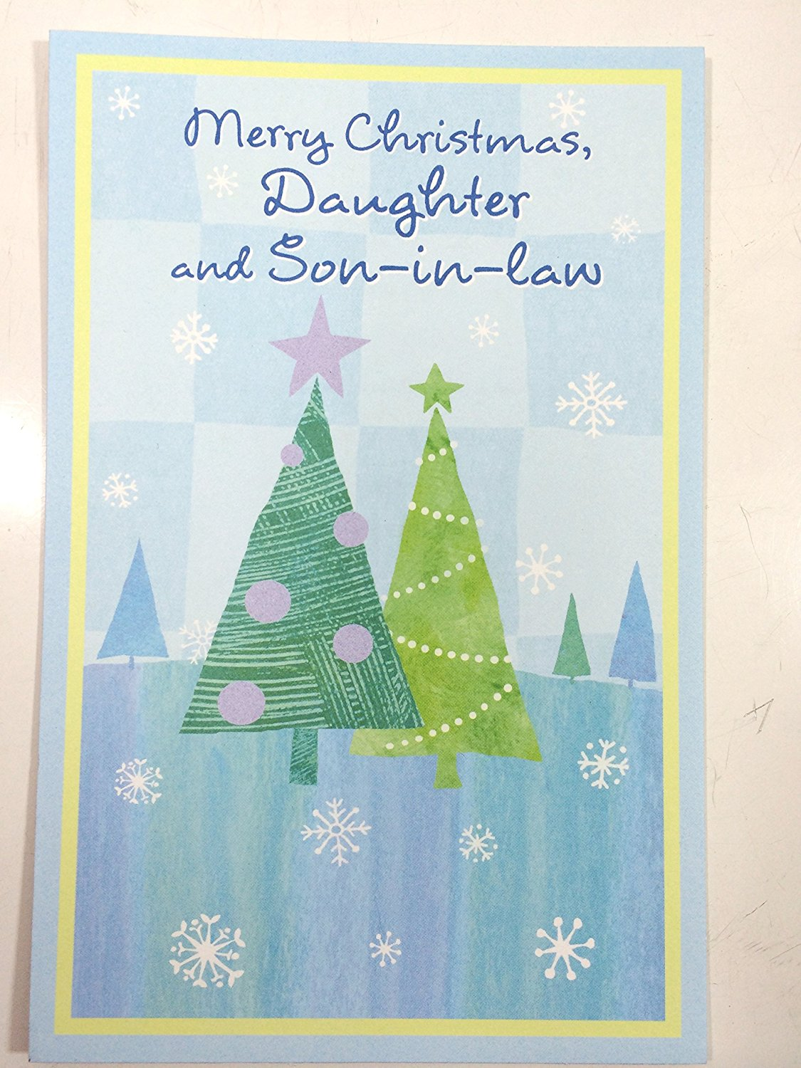 Christmas Card Daughter & Husband (Merry Christmas, Daughter and Son-in-law)By American Greetings pk of 2