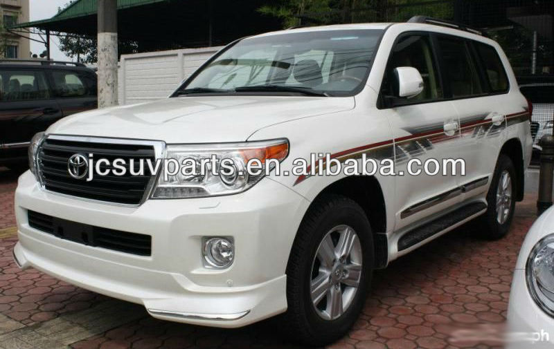 PP gray primer 2012 up LC200 body kit for Toyota Land Cruiser 200 body styling including front lip and rear lip