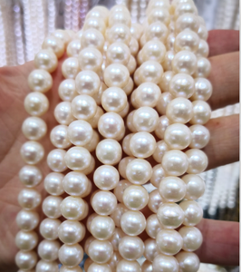 AAA 8mm Natural Freshwater Pearl String Round 40mm length