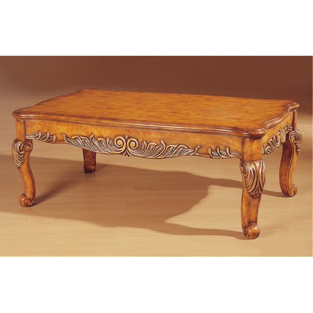 Sa2 Living Room Furniture Carving Solid Wood Center Table Design