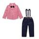 2pcs Baby Boys autumn Clothing set Baby Long Sleeve plaid Top+Pants Kids Gentlemen Bowknot Shirt Suspender Pants party Outfit