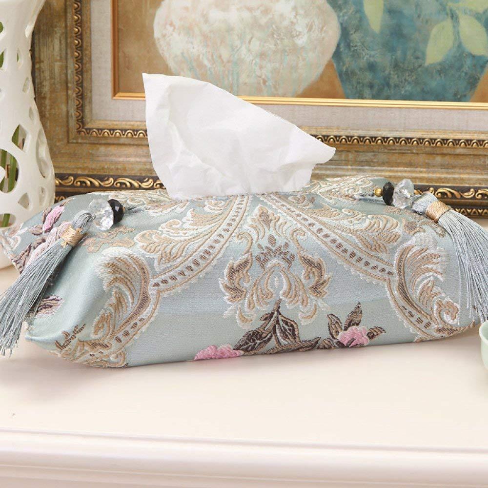 DHG High-End Fabric European Tissue Box Simple Car Car Book Box Creative Home Living Room Tissue Cover