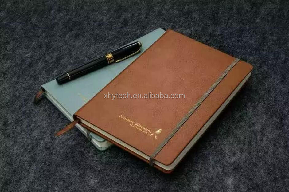 Emboss cover style notebook with back pocket
