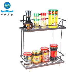 Dual tier sparying bronze wire mesh basket storage