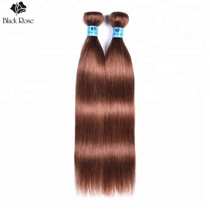 Top quality dark brown color 4# hair weft, virgin remy human hair with factory price for black women