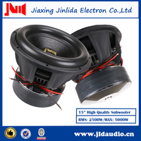Best sell 15 inch car audio subwoofer with 2500w-5000w powered speaker used subwofoers for sale