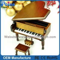 Wooden piano antique music box birthday gift romantic music box from Sankyo Musical Movement