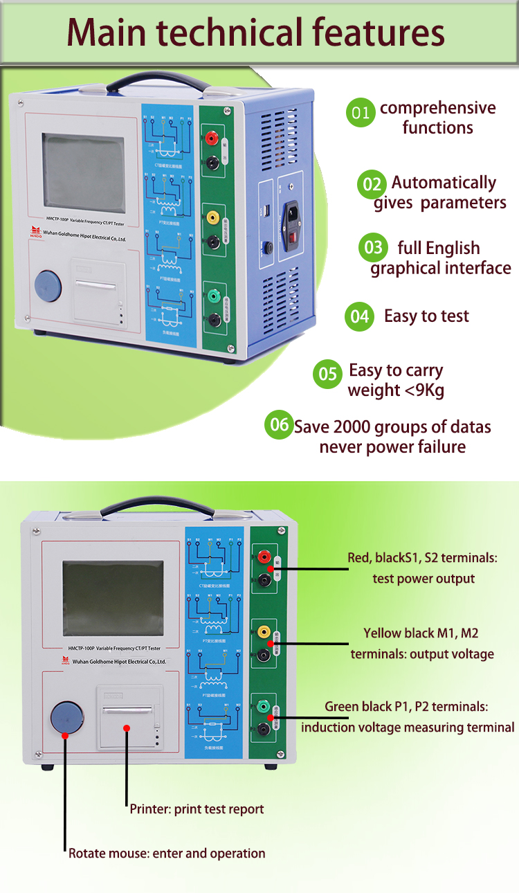 Hmctp-100p Ct Pt Polarity Test Meter Integrated Transformer Analyzer - Buy  High Quality Ct Pt Polarity Test,Transformer Analyzer,Ct Pt Transformer