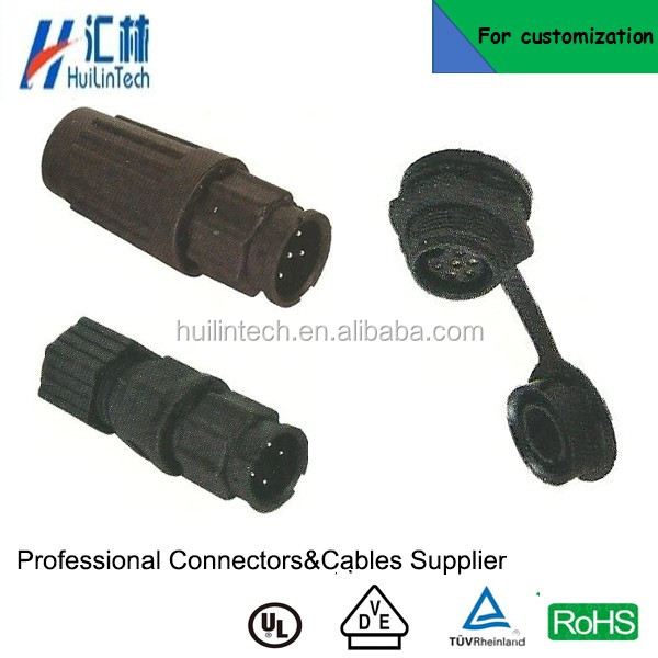 2pole IP67 electrical Z108 bayonet docking male plug connector