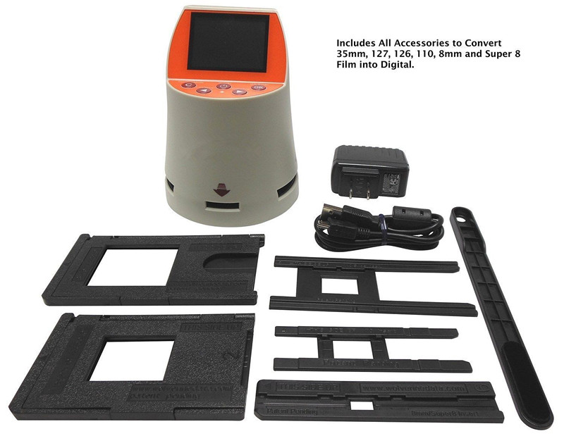 7-in-1 35mm 128 Film Negative Slide Film Scanner 14mp Sensor 2 4