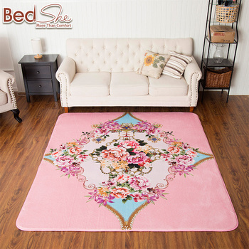 Hd Digital Spanish Style Floral Printing Composite Custom Carpet Mat ...