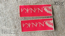 woven tag garment label golden/silver thread clothing labels custom wholesale
