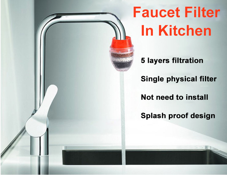 fits most standard faucets Advanced Faucet Water Filter System for Kitchen and Bathroom water purifier