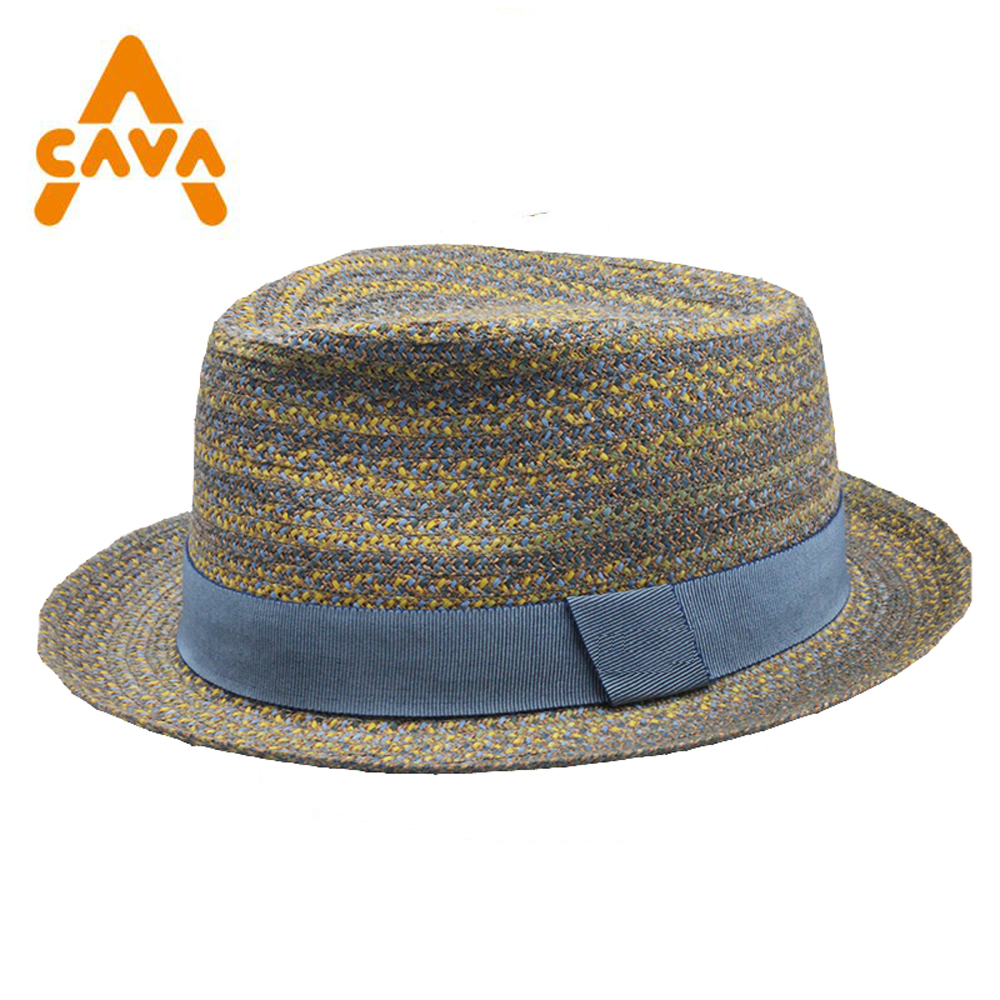 Custom high quality fitted mix color sun visor beach panama straw boater hat women cotton lining