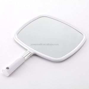 Professional Handheld Salon Barbers Hairdressers Mirror with Handle