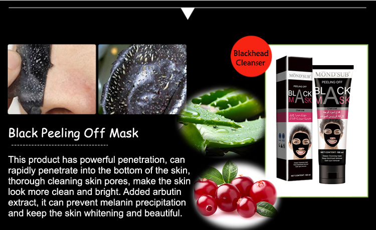 Private Label Mond'sub Xujohn 100ml Activated Carbon Face Heads Charcoal Black Mask Peel