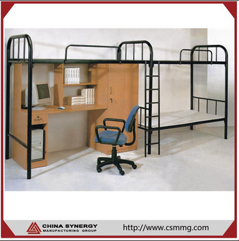 Factory Price Middle School Student Bunk Bed With Desk For Student