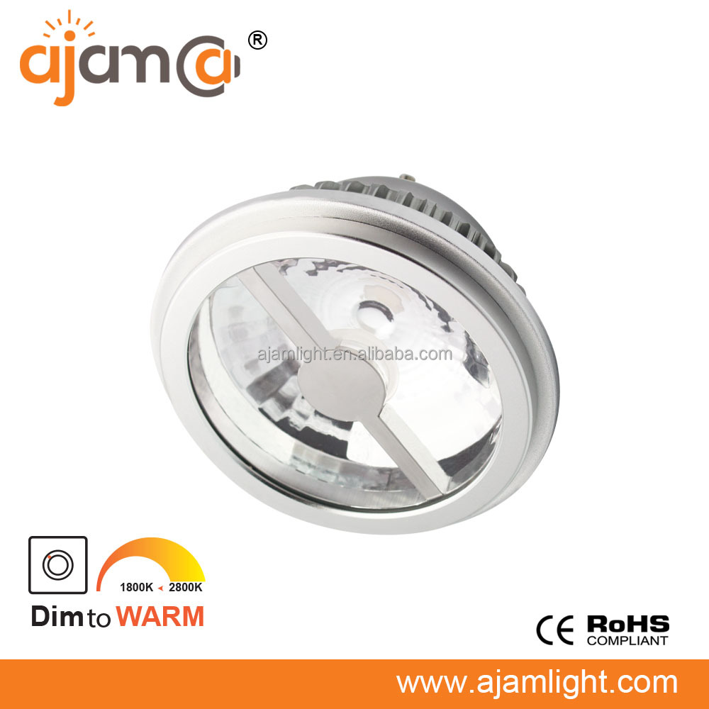 Ra>95 Ar111 Gu10 Dim To Warm 2800k - 1800k Dimmable Qr111 Led 12w ...
