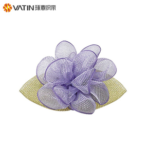 Wholesale Custom Fancy Colorful Sheer Organza Artificial Flower For Wedding Car Decoration
