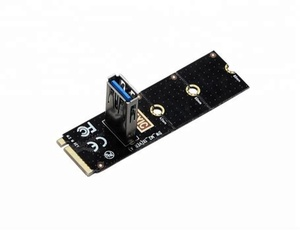 NGFF To PICE Riser Card M2 Slot To PCIE Expansion Card Convertor USB 3.0 Extender Adapter For Graphics Cards