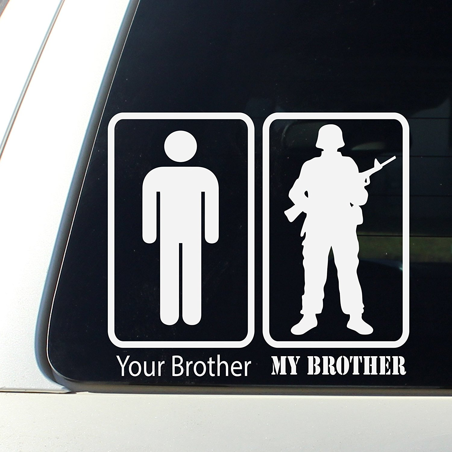 My brother your brother decal bumper sticker marine core navy army air force national guard protect usa