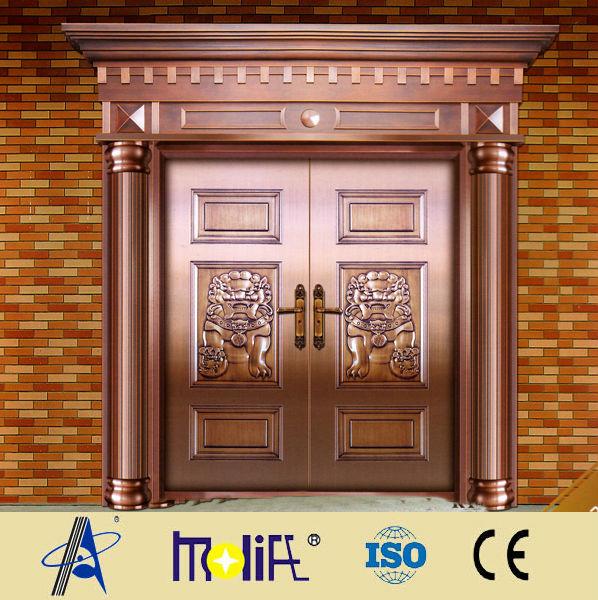 Zhejiang afol double cuivre imite porte porte principale - Porte villa en bois ...