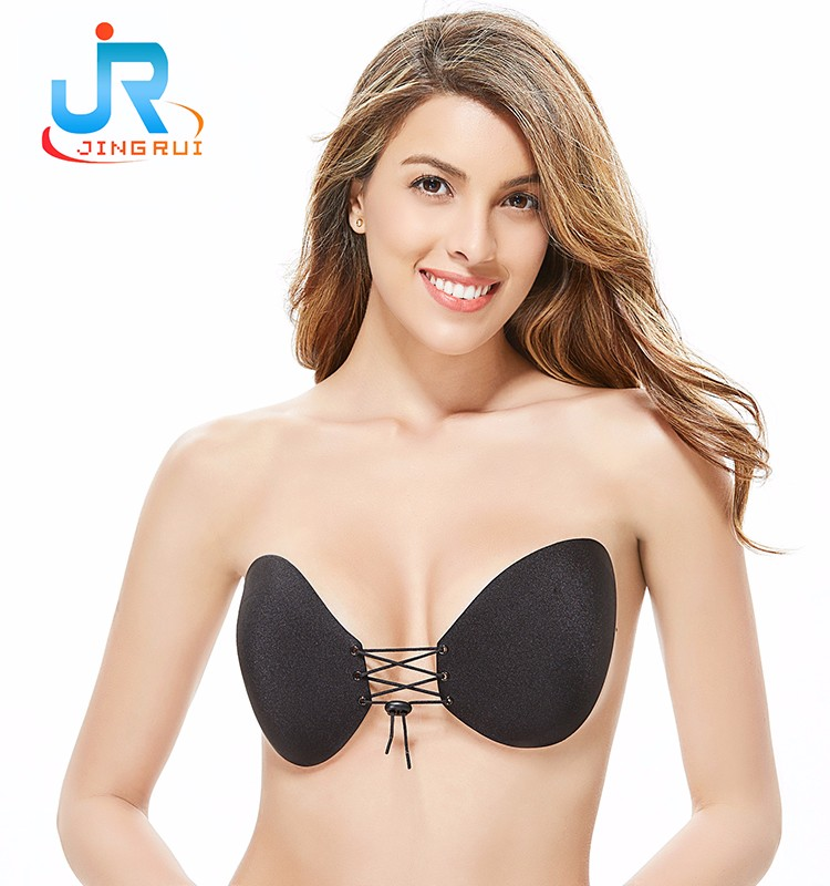 db97f26a615bd Girls Underwear Bra New Design Backless Strapless Cloth Push Up Invisible  Silicone Nipple Bra