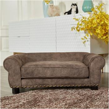 Brown Pet Bed Dog Sofa Rivet Furniture