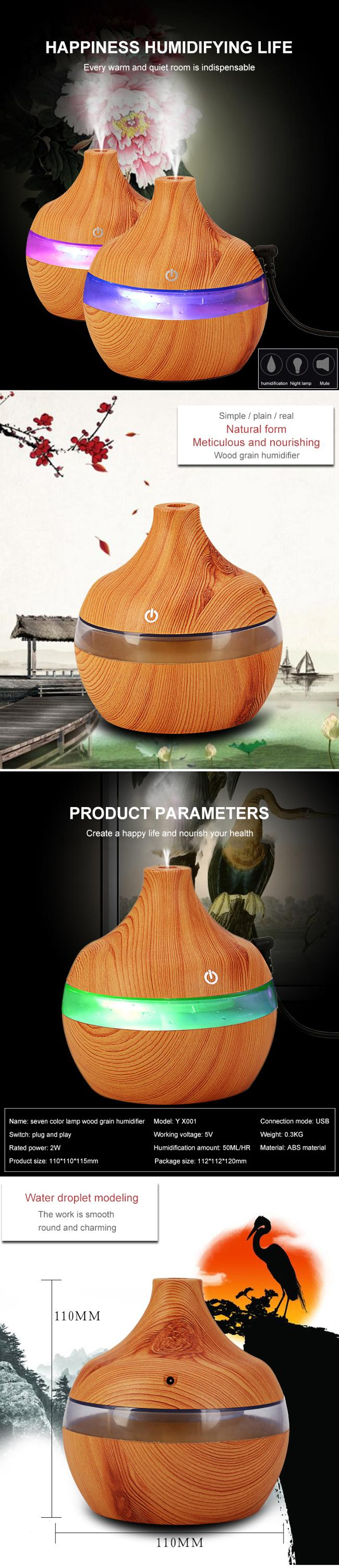 300ml Air Humidifier Essential Diffuser Home Air Humidifier Aroma Humidifier Diffuse