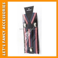 PGAC1285 Wholesale Personalized Cheap Price Plain Colour Braces Holiday Leather Suspenders Men