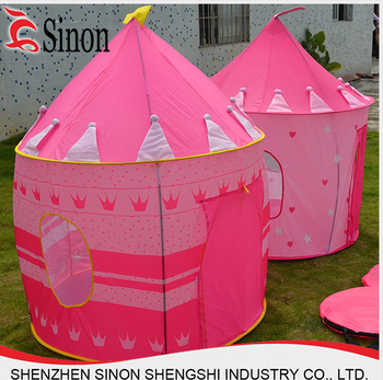 portable pink princess pop up tent house mini c&ing kid tent  sc 1 st  Alibaba & Portable Pink Princess Pop Up Tent House Mini Camping Kid Tent ...