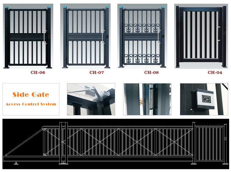 aluminum livestock farm wooden gate gear rack pinion and opener for automatic sliding used metal security anti-theft gate
