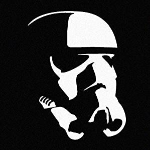 Storm Trooper Right-Facing (Star Wars Inspired) - White Vinyl Decal
