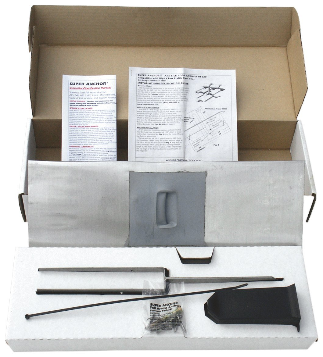 Get Quotations Super Anchor Safety 2820 14 Gallon Stainless Steel Ars Tile Roof Fall Arrest Kit