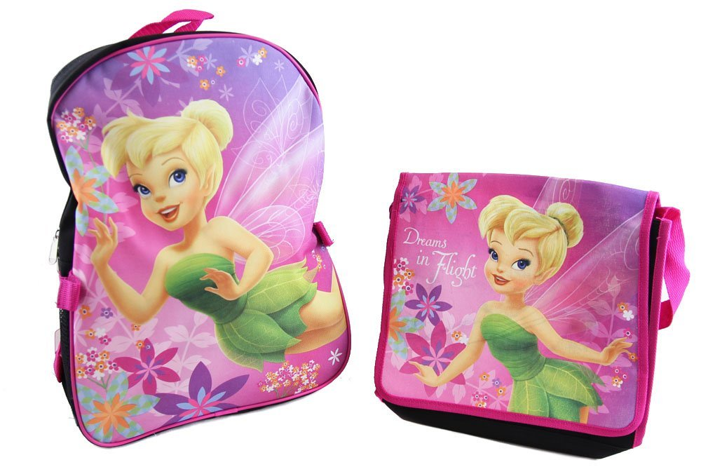 e2af644fa65 Buy Disney Fairies Tinkerbell Black Pink Backpack with Lunch Bag in ...