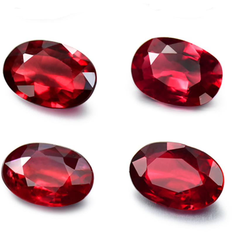 gemstone jewelry factory wholesale natural red ruby loose <strong>stone</strong> for making fine jewelry