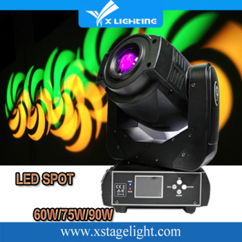 Led Stage Light High 60w led moving head Light With DMX512 Master Slave Led Flat DJ