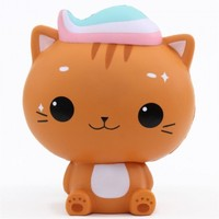 Hot 2018 PU Foam Squishy Slow Rising Pressure Reduce 3D Mini Cat Toys